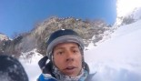 Skier Narrowly Escapes Death After Falling Off a Mountain  thumbnail