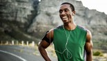 Smiling Man After Jog Run thumbnail