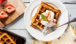 Strawberry Protein Waffles thumbnail