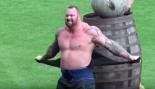 Hafþór Björnsson Rips Off His Shirt At The 2015 Europe's Strongest Man Competition.  thumbnail