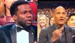 The Rock Casually Flips Off Kevin Hart at People's Choice Award  thumbnail