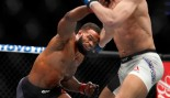 Tyron Woodley and Stephen Thompson exchange during UFC 209.  thumbnail