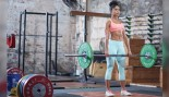 Woman Deadlifting In A Gym thumbnail