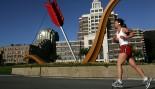 Woman Running Outside In San Francisco thumbnail