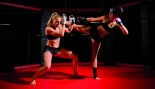 MMA Female Athletes Sparring In The Octagon  thumbnail