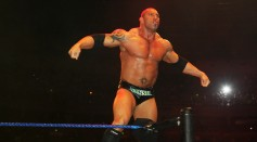 Batista Poses In The Ring During Wwe Smackdown At Acer Arena thumbnail