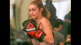 Gigi Hadid breaks a sweat boxing thumbnail