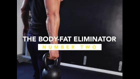 Muscular Man Holds Kettlebell During Fat-Burning Workout thumbnail