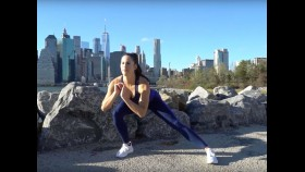 Brittany Smith demonstrating The Do-Anywhere Bodyweight Program: The workout to build strong, muscular legs thumbnail