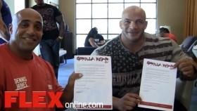 Dennis James & Big Ramy Sign with Gorilla Wear thumbnail