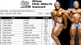 IFBB 2012 Muscle Heat Results - Bryant Wins thumbnail