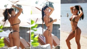 Michelle Lewin Rocks Sexy Bikini at the Beach thumbnail
