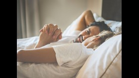 Hispanic Couple In Bed thumbnail
