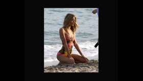 Martha Hunt smolders during a Miami swimsuit photo shoot  thumbnail