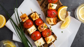 Grilled Halloumi on Skewers  thumbnail