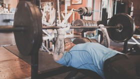 Man Bench Pressing thumbnail