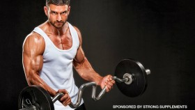 Man Curling Barbell for Strong supps thumbnail