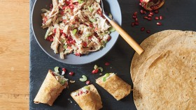Chicken and walnut salad wraps thumbnail