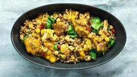 Goji Cauliflower Fried Rice With Tofu thumbnail
