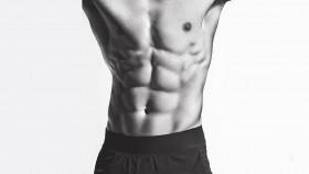 Man's muscular torso and abs thumbnail