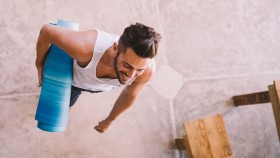 Man with Yoga Mat thumbnail