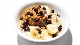 Peanut Butter, Chocolate, and Banana Oatmeal Bowl thumbnail