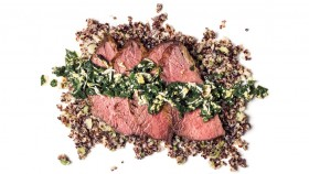 Recipe: How To Make Roasted Tri-Tip Steak With Herb Sauce and Scallion Quinoa thumbnail