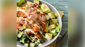 Recipe: How To Make Salmon Buddha Bowl With Creamy Sriracha Dressing thumbnail