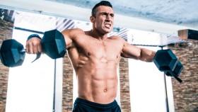Man doing shoulder exercise: dumbbell lateral raise thumbnail