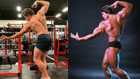 Arnold Schwarzenegger's Son Poses Like Dad thumbnail