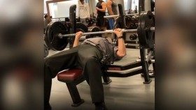 75-Year-Old Security Guard Hits 180-Pound Bench Press for Reps thumbnail