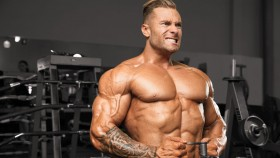 Chris Bumstead training shoulders  thumbnail