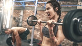 Female-Screaming-In-Gym-Peforming-Barbell-Curl thumbnail