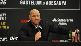 UFC President Dana White conducts a post game press conference after the UFC 236 event at State Farm Arena on April 13, 2019 in Atlanta, Georgia. thumbnail