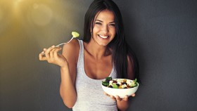 Girl-Smiling-Eating-Salad-Gut-Health thumbnail