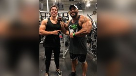 Joseph Baena Poses With Sergio Oliva Jr.  thumbnail