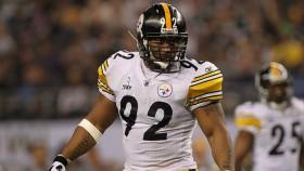 James Harrison In Steelers Uniform thumbnail