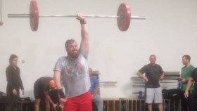 One-arm overhead barbell lift from James Spurgin thumbnail