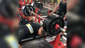 Larry Wheels benching  500 pounds 11 times thumbnail