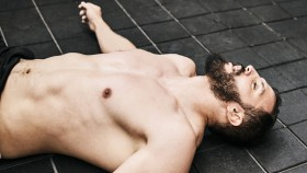Male-Fitness-Tired-Sleeping-Ground-Floor thumbnail