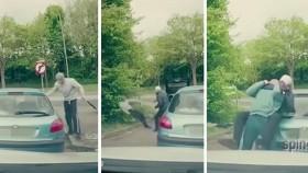 Brutal road rage fight. thumbnail