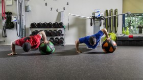 One-Arm-Medicine-Ball-Pushup thumbnail