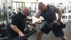 The Rock and Hany Rambod Killing it in Gym thumbnail