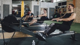 Cardio workout on rowing machine thumbnail