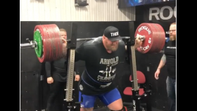 Watch Hafthor Bjornsson Epically Bench Press 980 Pounds thumbnail
