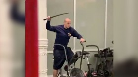 Weights Be Gone, This Fighting Man Uses a Sword to Work Out thumbnail