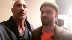 Dwayne The Rock Johnson with Justin Timberlake thumbnail
