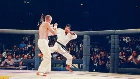 12: Royce Gracie in action during the Ultimate Fighter Championships UFC 1 on November 12, 1993 at the McNichols Sports Arena in Denver, Colorado. thumbnail