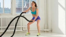 Woman Using Battle Ropes  thumbnail
