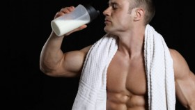 bodybuilder drinking protein shake Video Thumbnail